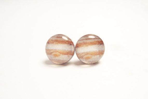 JUPITER - Solar System Post Earrings
