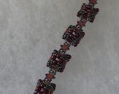 So Beautiful bead and crystal bracelet - Beadweaved