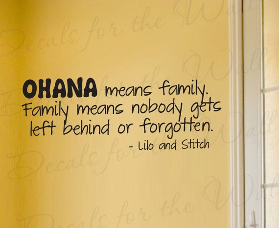 Disney Quotes Baby Girl: Items Similar To Lilo And Stitch Ohana Family Disney Girl