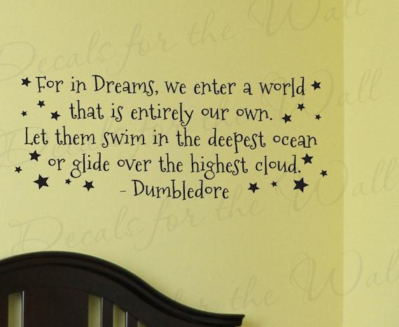 Dumbledore Harry Potter Girl or Boy Room Kid Baby Nursery