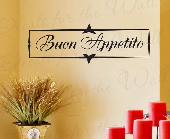 Buon Appetito Italian Kitchen Dining Room Wall Decal
