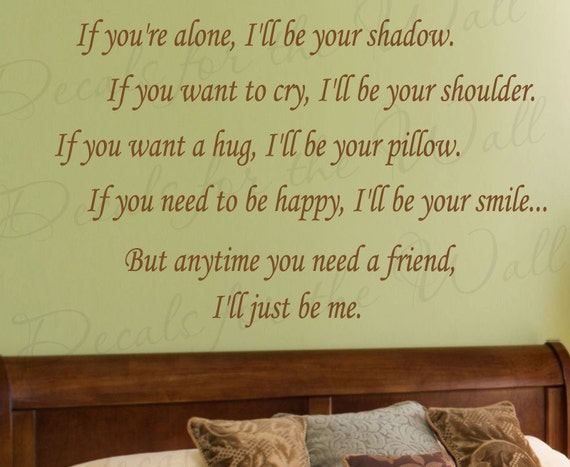 Ill Be There Just Me Love Bedroom Family Wedding Marriage Wall