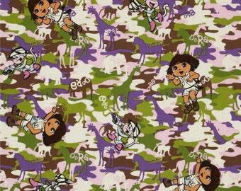 Dora Safari Camouflage - Fabric By The Yard - H