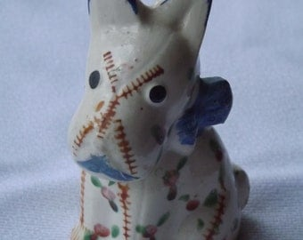 Vintage Orphan Salt Shaker Forlorn Little Puppy Looking For His Mate