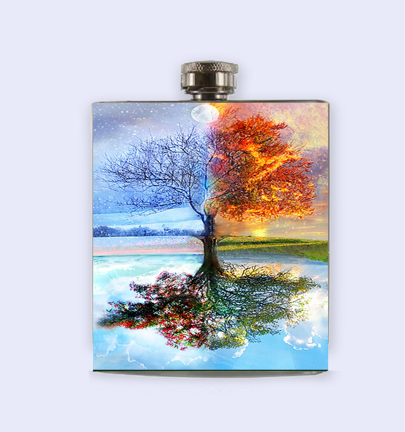 Flask four seasons tree flask unique flask flask for women for 4 season decoration