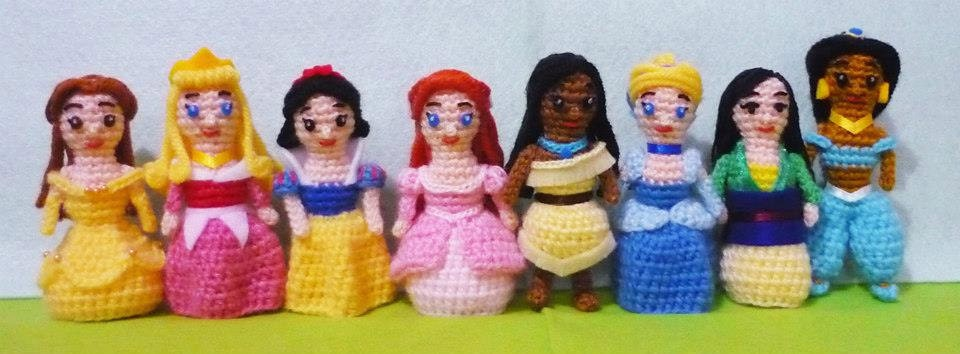 Amigurumi Disney Princess : Items similar to Crochet Amigurumi Disney Princess set of ...