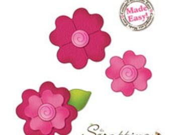 """Cottage Cutz """"Flower 2, Layered (3x3)"""""""