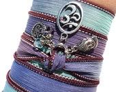Om Buddha Silk Wrap Bracelet Zen Bohemian Yoga Jewelry Meditation Earthy Fall Unique Gift For Her S Under 50 Item Z3