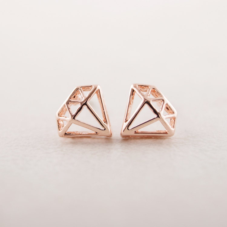 product earrings mews london diamond shaped stud large crystal