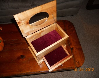 Hand-Made Maple Dove-Tail Jewelry Box