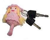 key chain little crochet Pink Lady