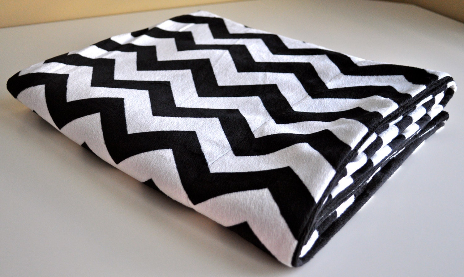 luxe chevron throw blanket black and white by ellefelkdesign. Black Bedroom Furniture Sets. Home Design Ideas