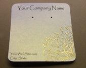20 Golden Scroll Earring Display cards, Hand Embossed, Eaarring Cards
