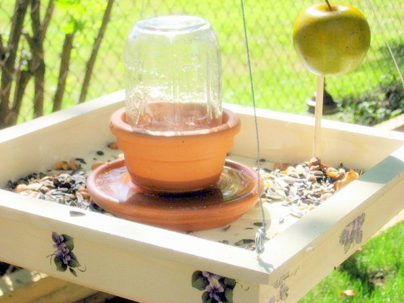 Hanging Bird Feeder and Bath: 2 in 1