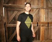 Aztec diamond - Plain Bear handmade screen print American Apparel t-shirt XS/S/M/L/XL