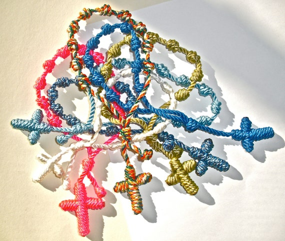Ten Colorful Knotted Rosary Bracelets - Choose Your Colors