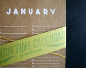 FREE SHIPPING // Screenprinted Perpetual Calendar for Birthdays, Anniversaries, & Important Dates