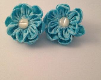 True Blue Mini Barrette pair