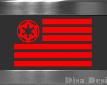 Star Wars inspired Imperial Forces Flag vinyl decal - Car decal - Macbook decal - Imperial Forces decal - Star Wars decal