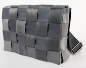 Recycled Seatbelt Messenger-bag