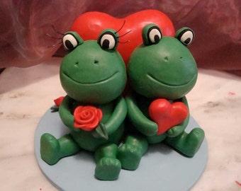 Custom Made Frog Wedding Cake Topper