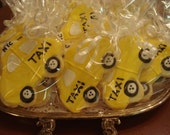 New York City Yellow Taxi Cab Decorated Sugar Cookies - NYC - 1 Dozen