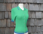 60's Fitted Cardigan Top
