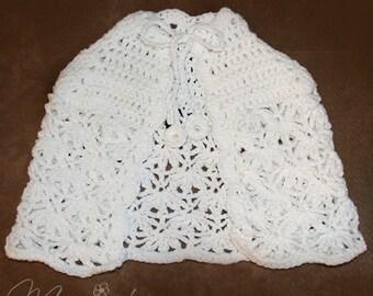 Popular items for white crochet cape on Etsy