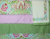 Kumari Garden Custom Crib Bedding Set - 4 pc set -  w/FREE gift