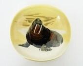 Vintage Alaskan Ceramic Dish Matthew Adams Walrus Art