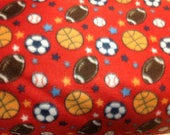 Adult or Teen double layer fleece Mixed Sports Print Made to Order Blankets
