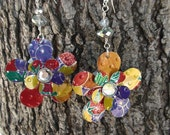 Recycled AriZona Fruit Punch Earrings