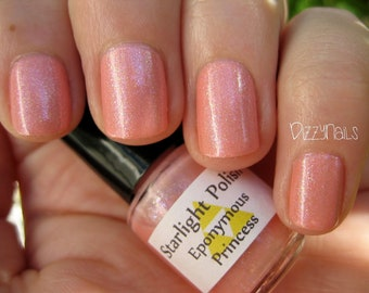 Eponymous Princess Pink Shimmer Nail Lacquer Custom Indie Starlight and Sparkles Polish
