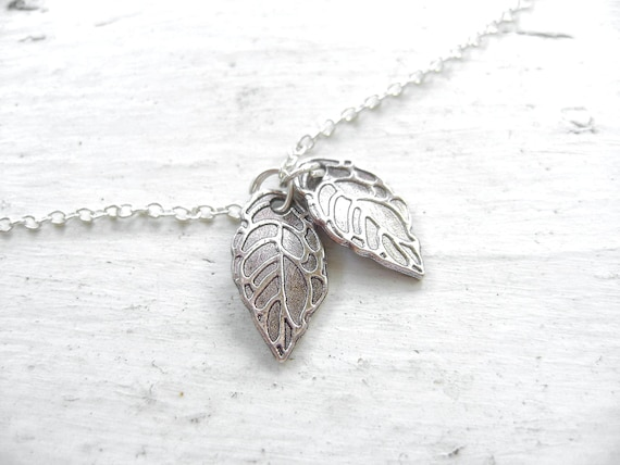 Silver Leaf Anklet - Small Charms - Boho Chic Jewelry - Silver Anklet - ZEN Collection