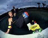 "80s Skate Photo - Christian Hosoi Layback Del Mar Eighties Skateboarding Photograph 16X20"" Print"