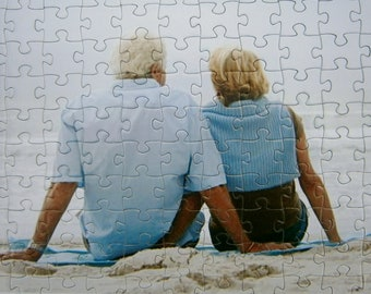 Grand Gift Perfect Retirement Gift! Personalized Custom Photo Jigsaw Puzzle Extra Large with durable pieces in your choice of piece count.