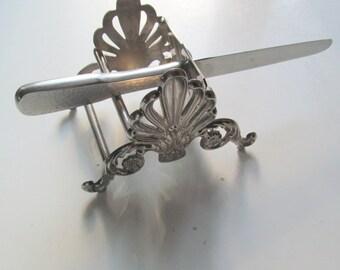 Leonard Silverplate Knife Rest