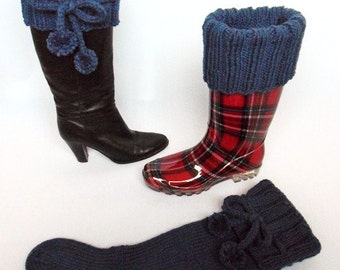 Knee high long chunky boot socks knitting pattern DOWNLOAD