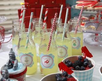 Glass Milk Bottles, Mini Milk Jars, Vintage Bottles, Wedding Bottles, 16 Glasses Featured in PEOPLE Magazine