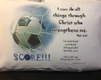 Soccer pillowcase