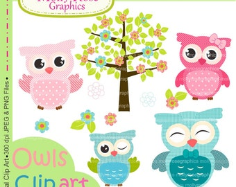 SALE owls clip art , Digital Clip Art owls, Personal and Small Commercial Use, Invitations, Card Making, Scrapbooking  M.36