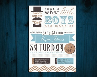 Printable Baby Shower Invitation BABY BOY