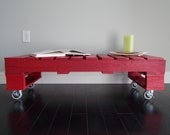 Retro/Rustic/Industrial Red Pallet Coffee Table