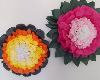 """One 15"""" Tissue Paper Wall Flower"""