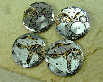 Vintage watch movements - set of 4 - c118