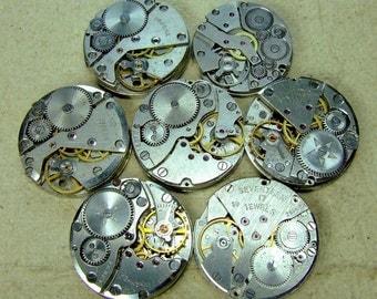 Vintage watch movements - set of 7 - c79