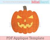 Halloween Pumpkin Applique Template PDF