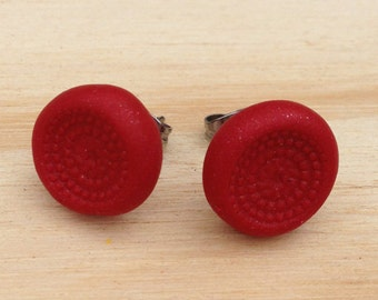 Dimple Earrings - Pick a colour any colour. Deep & richly textured handmade earrings.