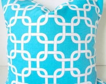 AQUA BLUE THROW Pillows  Aqua Pillows Turquoise Blue Decorative Throw Pillows 16x16 18 20 Sale. Aqua Blue pillow Covers Home Decor