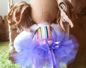 Lilac Lavender girl doll TUTU doll skirt fits Treehouse Kids Dolls and American Girl Dolls